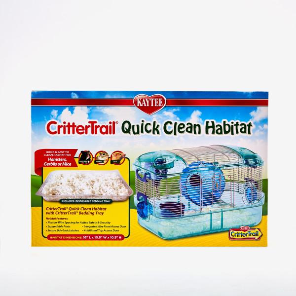 Kaytee CritterTrail Quick Clean Small Animal Habitat, 16-in