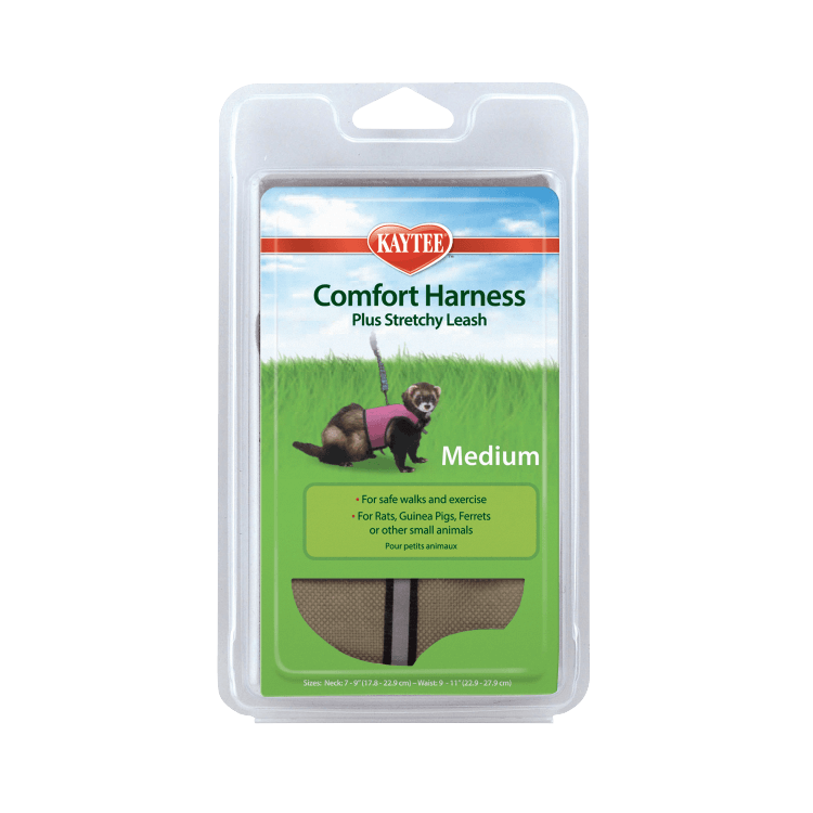 Kaytee Comfort Harness Plus Stretchy Leash Small Animal Harness, Medium
