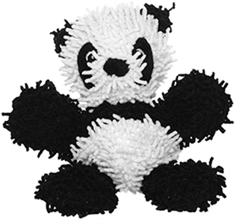 Tuffy's Mighty Microfiber Ball Panda Dog Toy