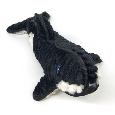 Steel Dog Ruffians Swimmers Killer Whale with Tennis Ball Dog Toy