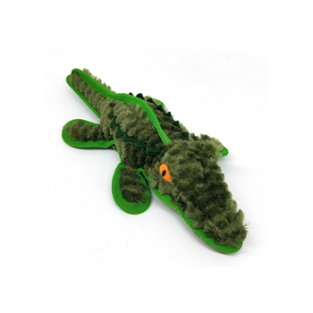 Steel Dog Ruffians Safari Gator with Tennis Ball Dog Toy