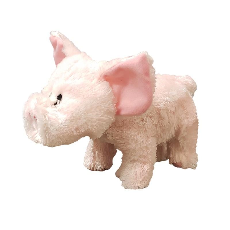 Steel Dog Barnyard Ballers Pig with Tennis Ball Dog Toy