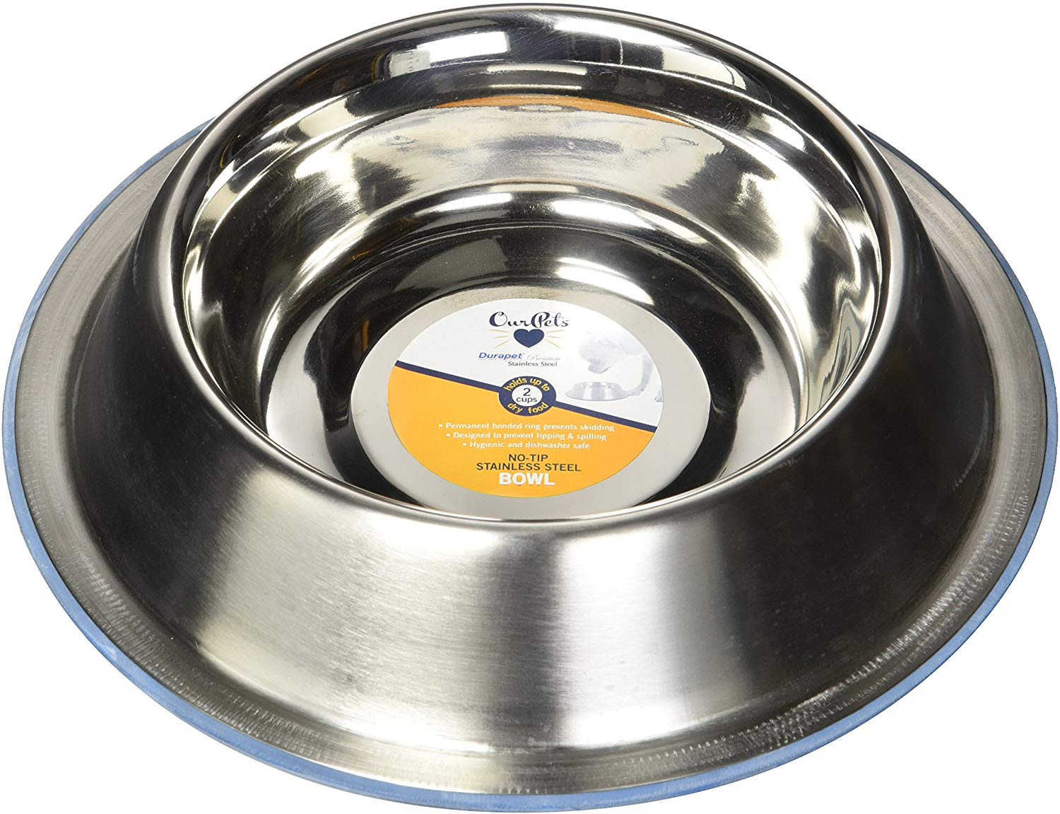 OurPets No-Tip Dog Bowl, Medium, 3-cups