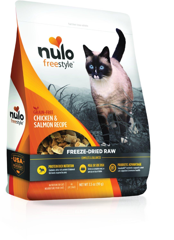 Nulo Freestyle Chicken & Salmon Freeze-Dried Raw Cat Food, 3.5-oz