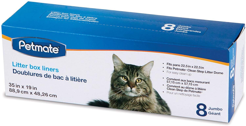 Petmate Cleanstep Cat Litter Box Liners, 8-pk