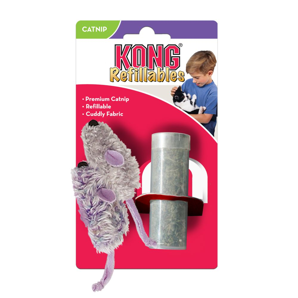 KONG Refillable Mouse Catnip Cat Toy