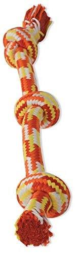 Mammoth Braidys 3 Knot Rope Bone Dog Toy, Color Varies Image