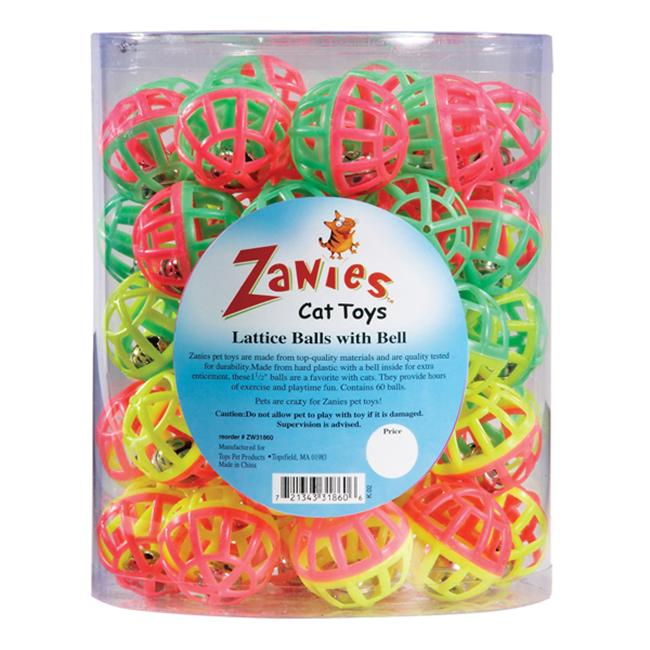 Zanies Lattice Balls with Bell Cat Toy Image