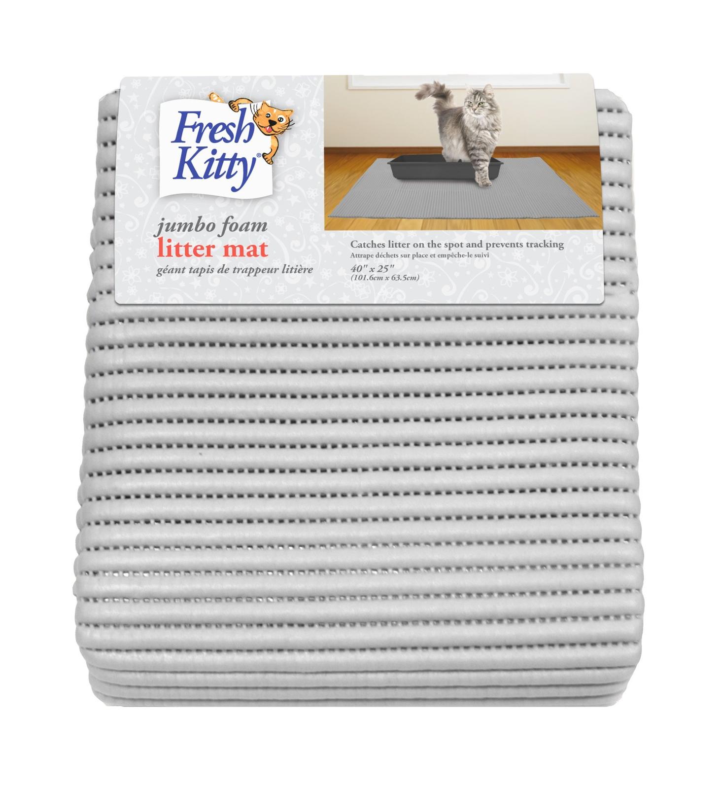 Fresh Kitty Jumbo Foam Cat Litter Mat, Gray, Jumbo