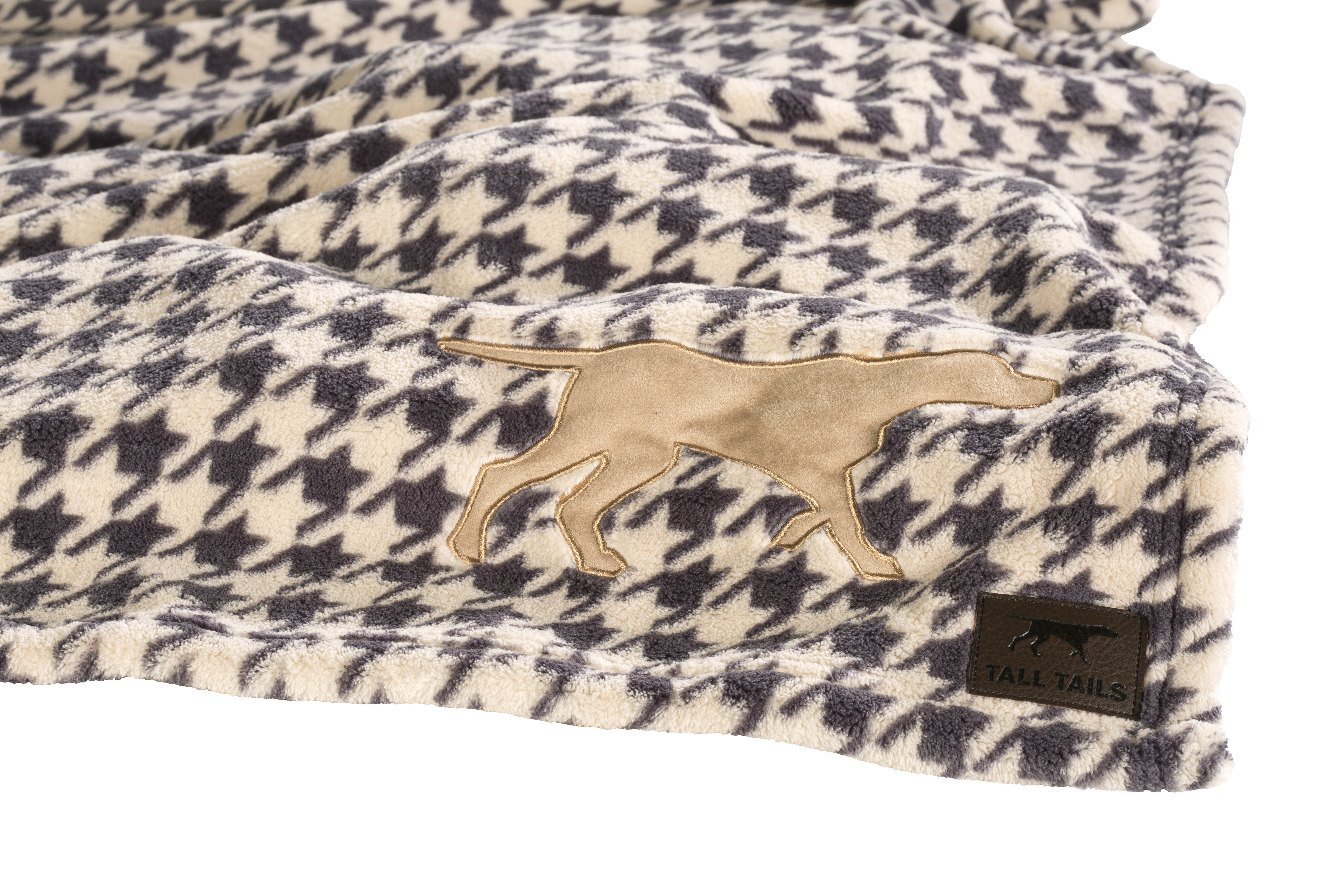Tall Tails Houndstooth Dog Blanket, 30-in x 40-in