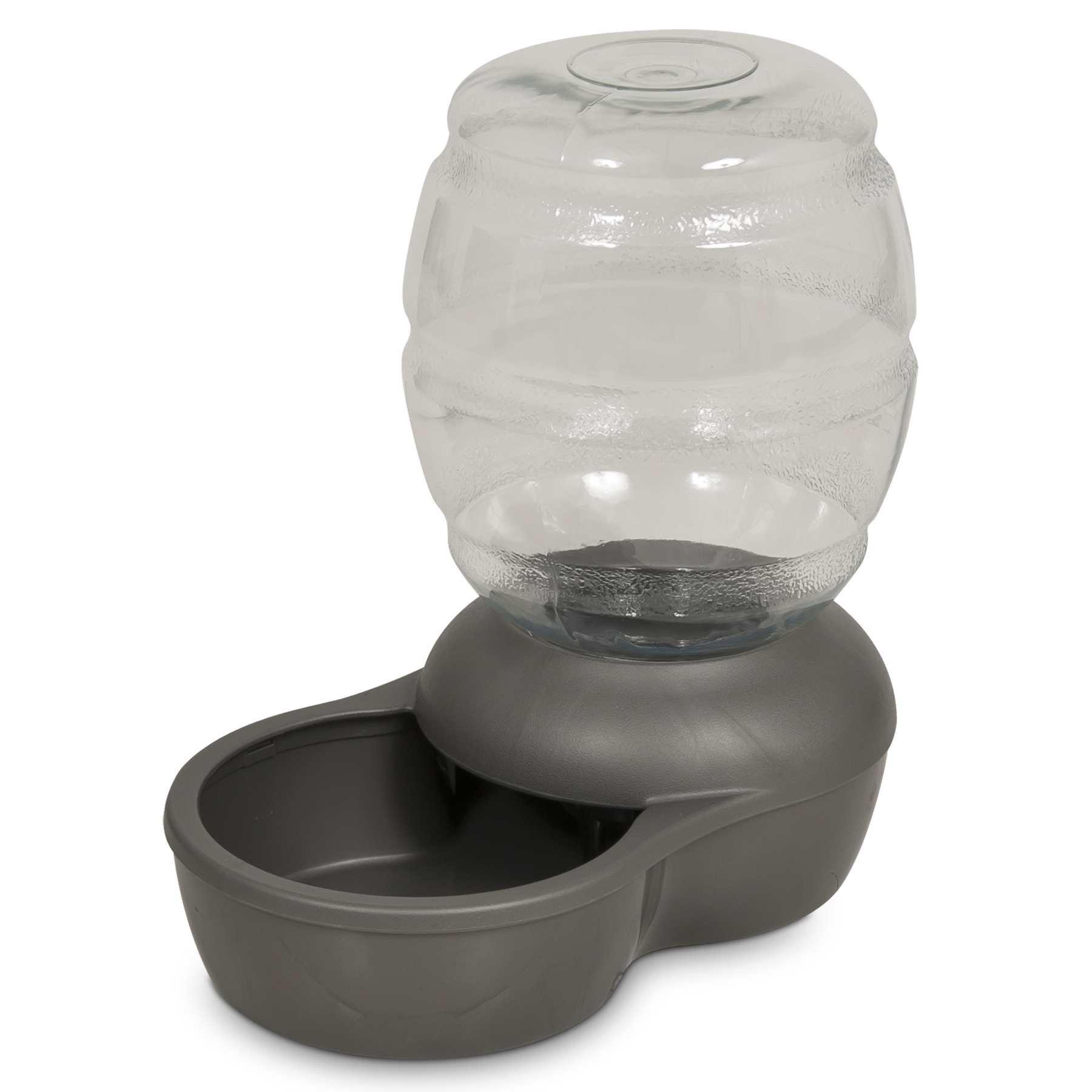 Petmate Replendish Waterer with Microban for Pets, Mason Silver, Medium