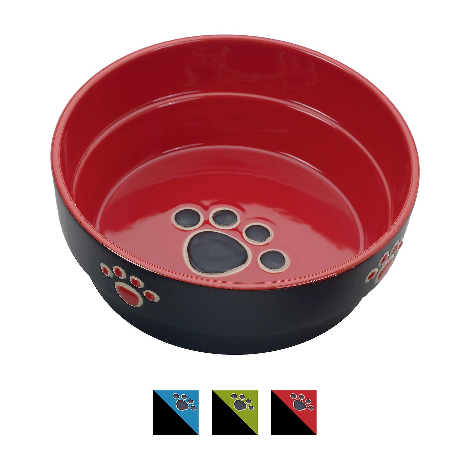 Ethical Pet Fresco Dog Bowl, Red, 5-in
