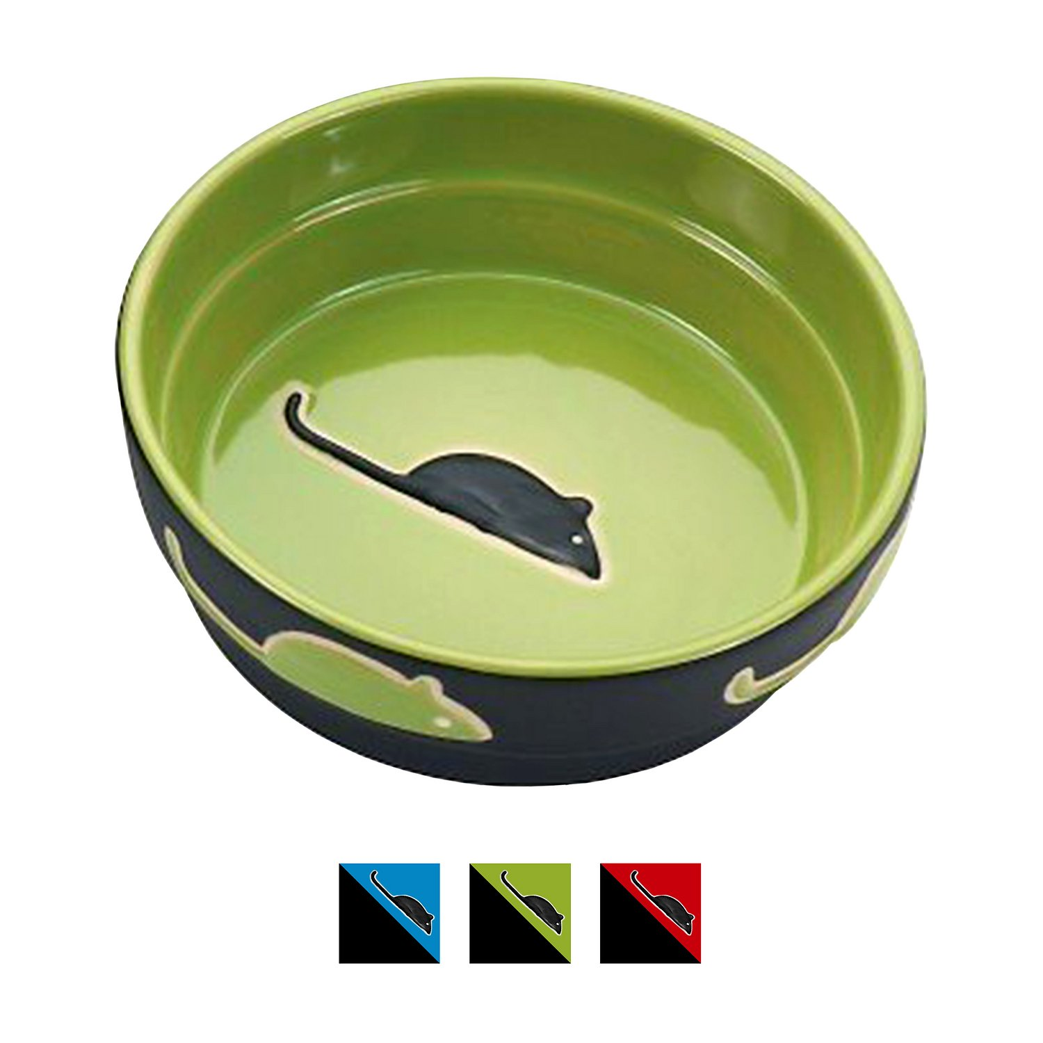 Ethical Pet Fresco Cat Bowl, Green, 5-in