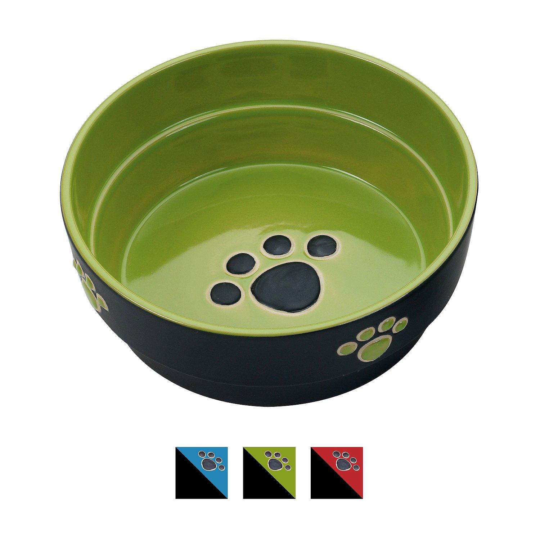 Ethical Pet Fresco Dog Bowl, Green, 7-in
