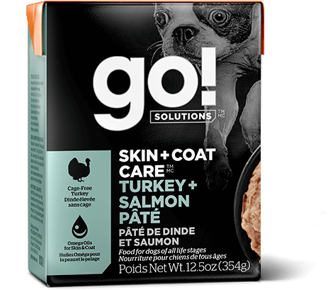 Petcurean Dog Go! Solutions Skin & Coat Care Turkey & Salmon Recipe Wet Dog Food, 12.5-oz, case of 12