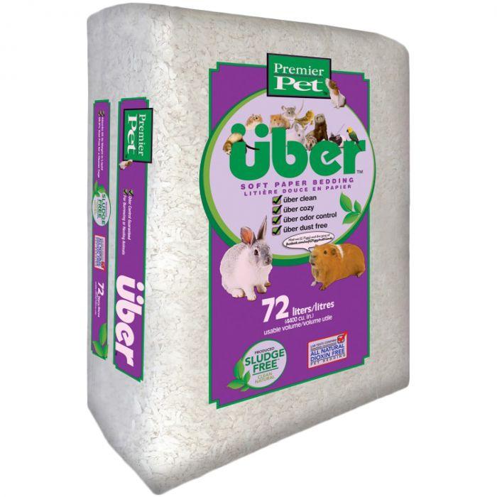 American Wood Uber Small Animal Bedding, White, 72-L