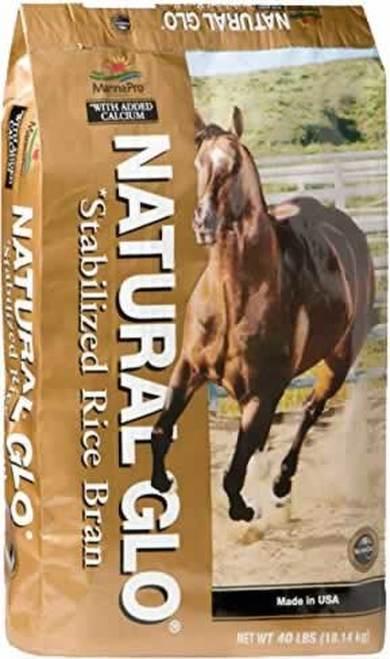 Manna Pro Natural Glo Rice Bran Granular Horse Feed, 40-lb