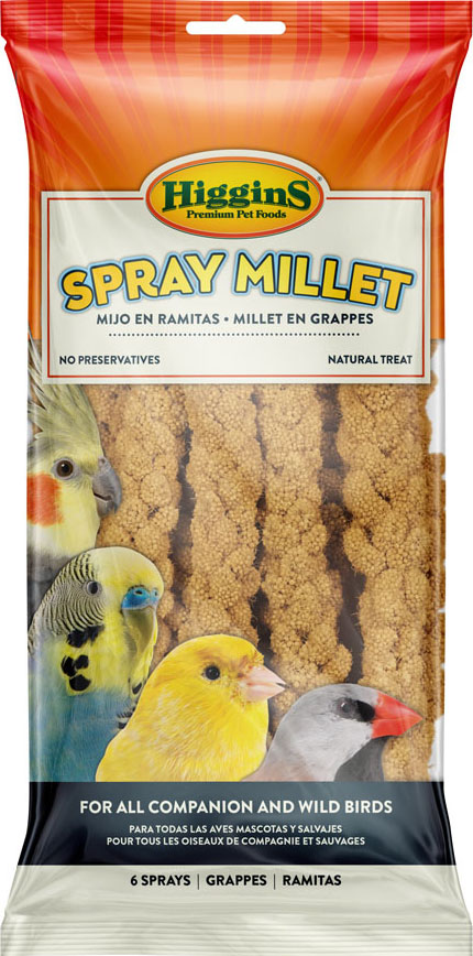 Higgins Millet Spray Bird Treats, 6-count