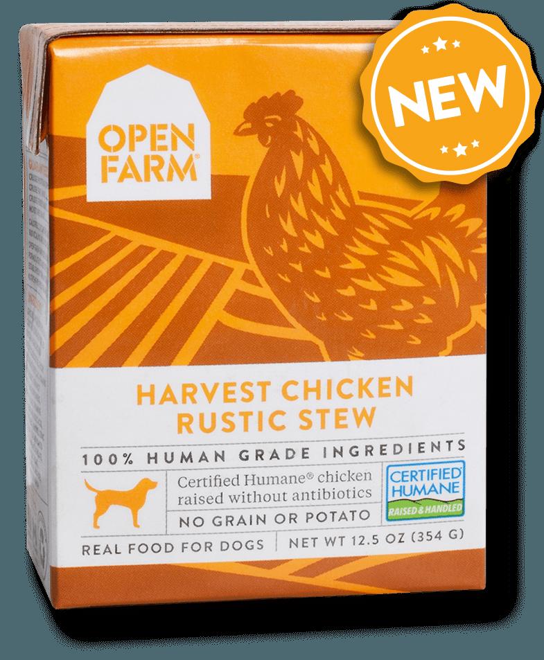 Open Farm Rustic Stew Harvest Chicken Recipe Wet Dog Food Image