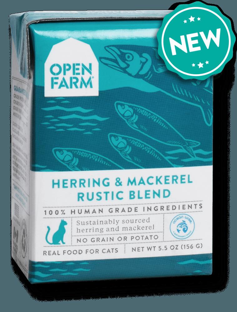 Open Farm Rustic Blend Herring & Mackerel Recipe Wet Cat Food, 5.5-oz