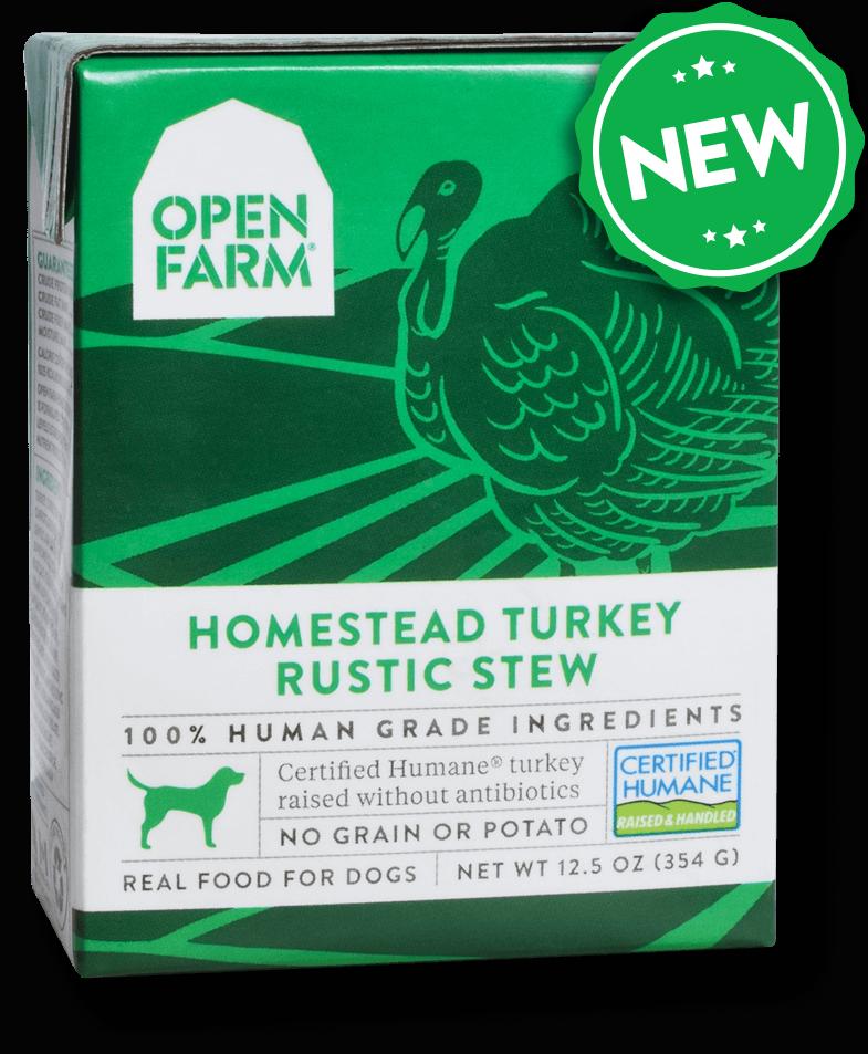 Open Farm Rustic Stew Homestead Turkey Recipe Wet Dog Food Image