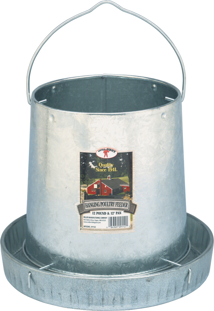 Miller Little Giant Hanging Metal Poultry Feeder Image