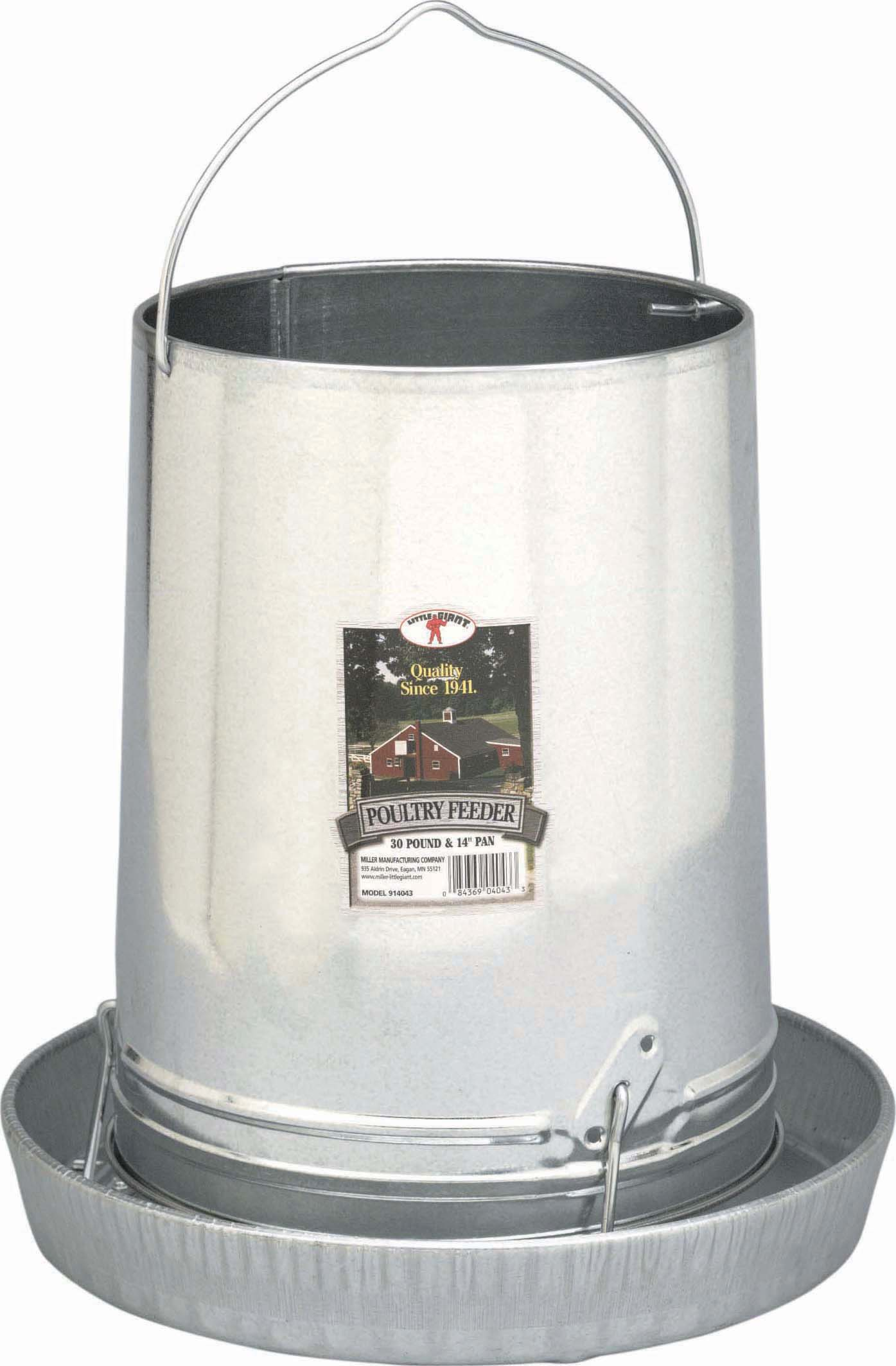 Miller Little Giant Hanging Metal Poultry Feeder, 30-lb