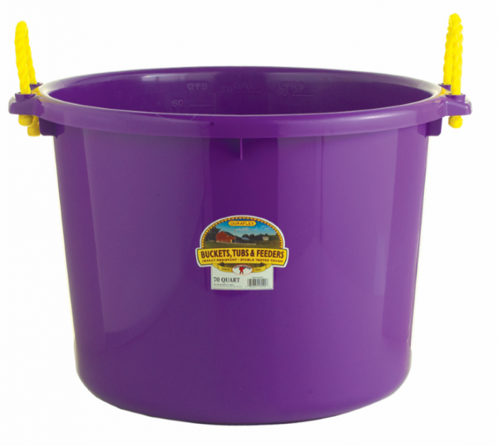 Miller Little Giant DuraFlex Livestock Muck Tub, Purple, 70-qt