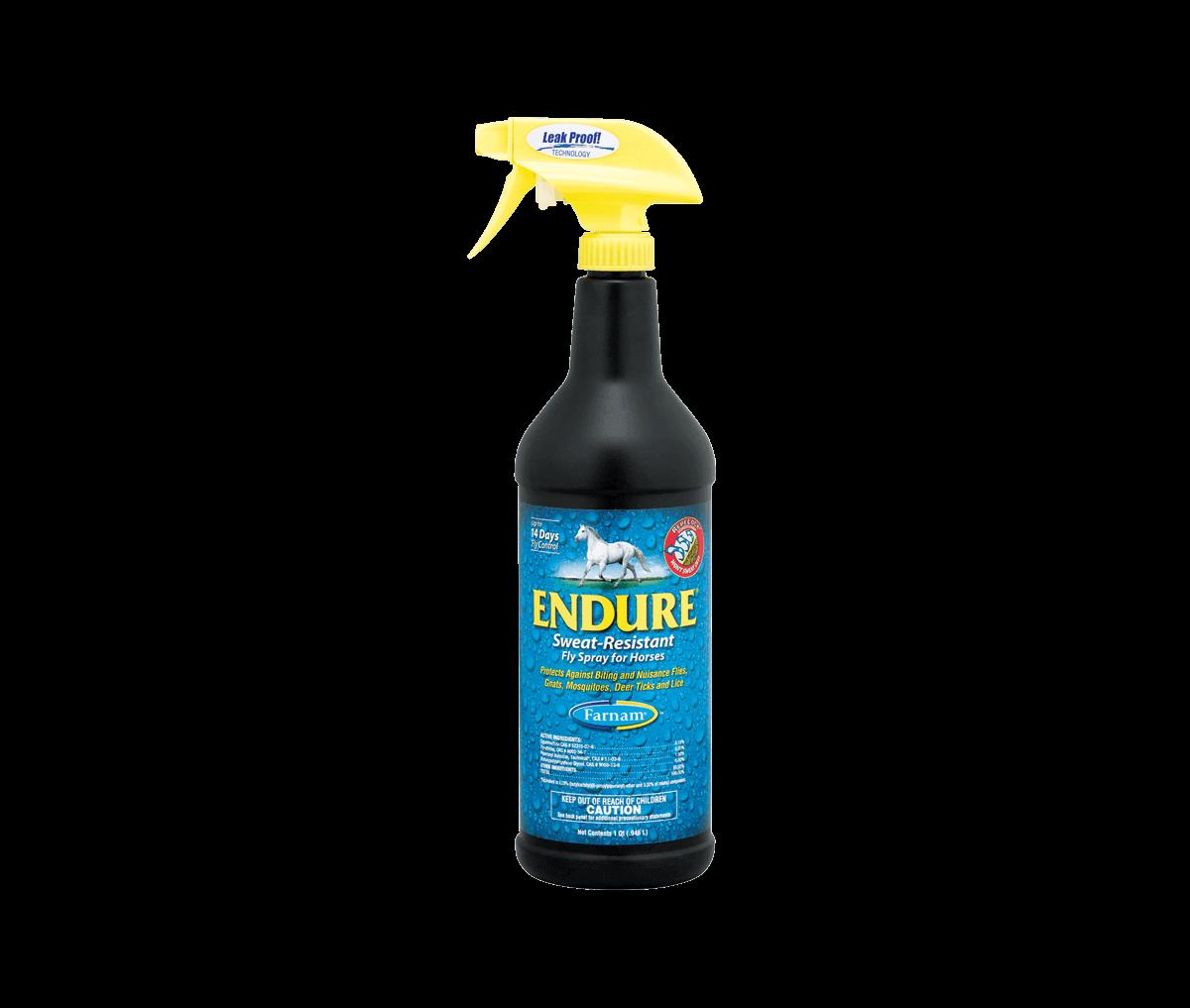 Farnam Endure Sweat Resistant Horse Fly Repellent, 32-oz