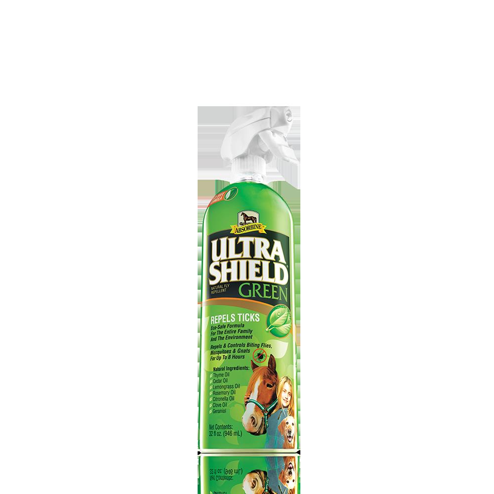 Absorbine UltraShield Green Natural Horse Fly Repellent, 32-oz