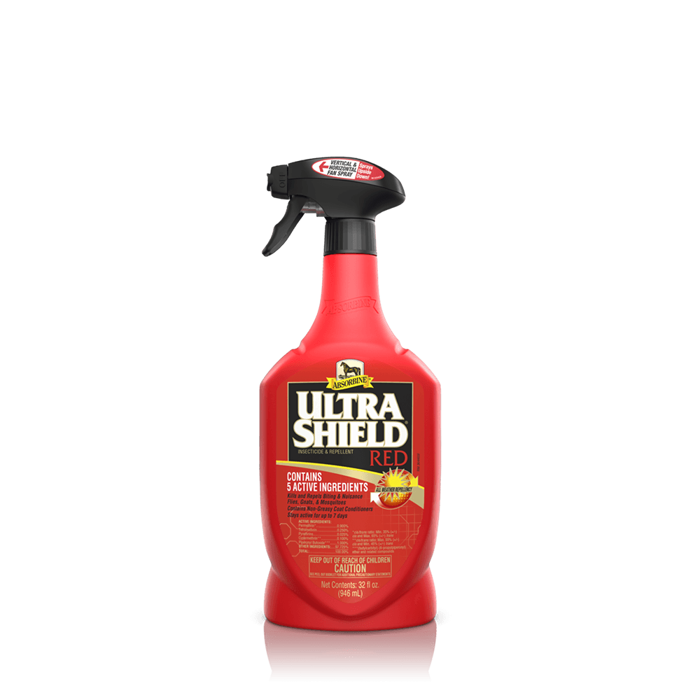 Absorbine UltraShieldRed Horse Insecticide & Repellent, 32-oz