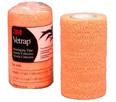 3M VetRap Bandaging Tape, Orange, 4-in