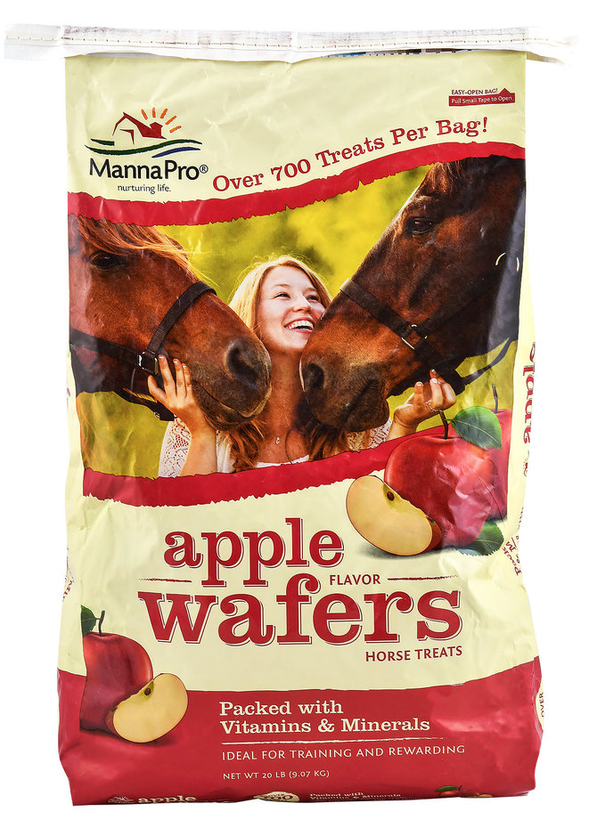 Manna Pro Apple Flavored Wafers Horse Treats, 20-lb