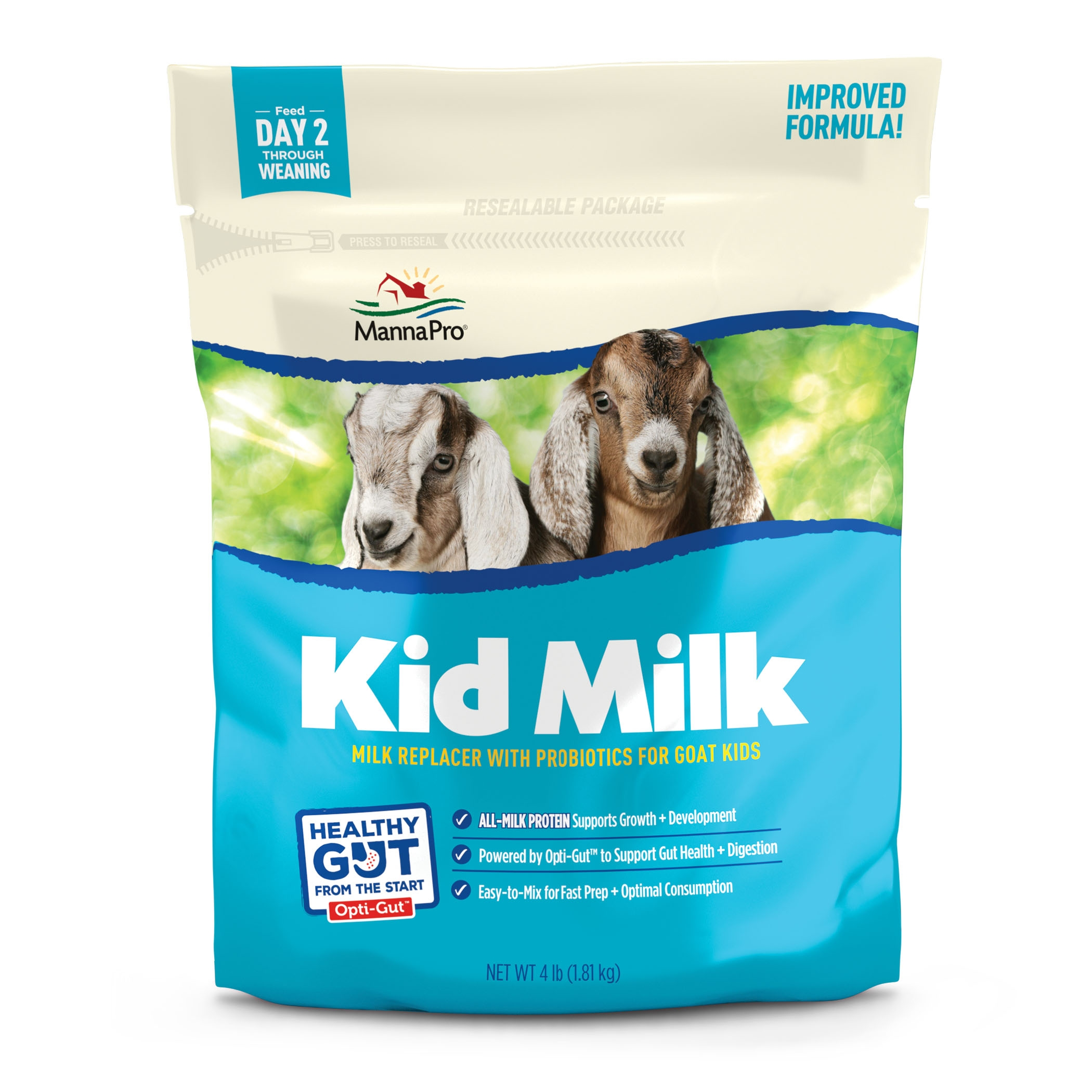 Manna Pro Kid Milk Replacer, 4-lb