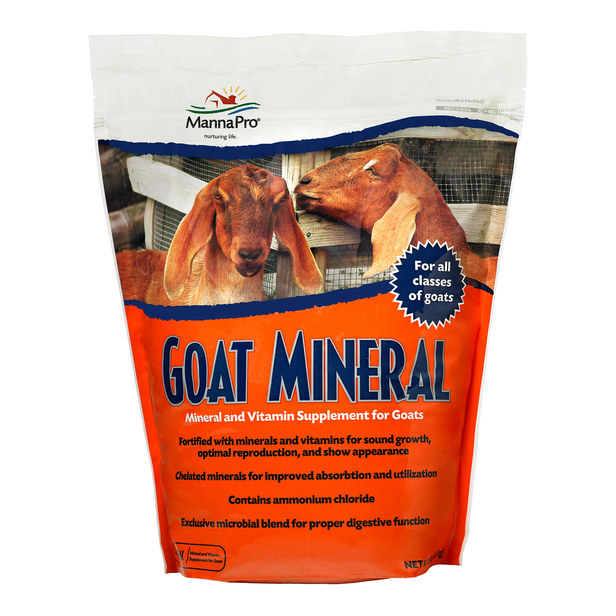 Manna Pro Goat Mineral Supplement for Goats, 8-lb