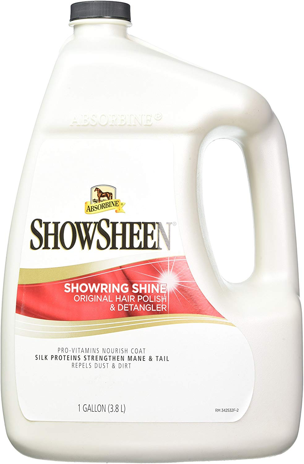 Absorbine ShowSheen ShowRing Shine Horse Polish & Detangler, 1-gallon