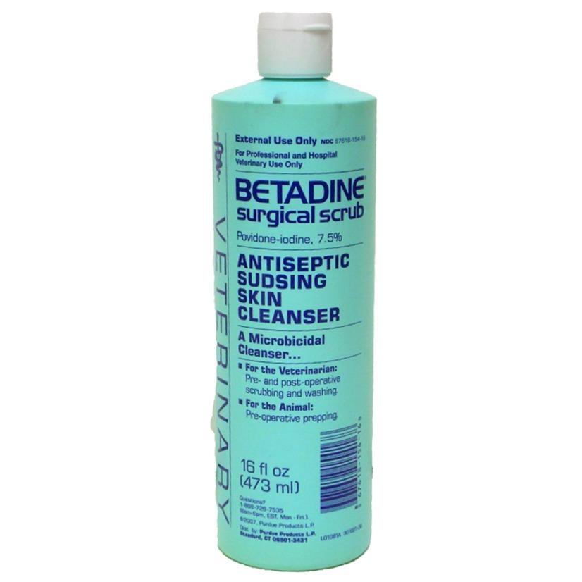 Betadine Surgical Scrub Antiseptic Skin Cleaner Image