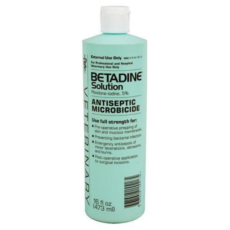 Betadine Solution Topical Antiseptic Bactericide, 16-oz