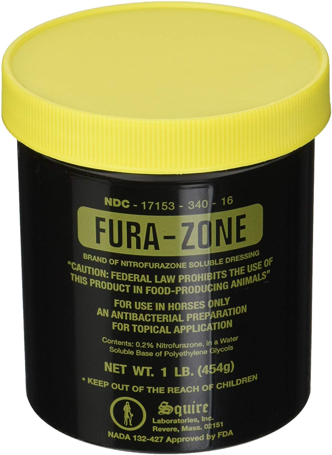 Squire Fura-Zone Ointment for Horses, 16-oz