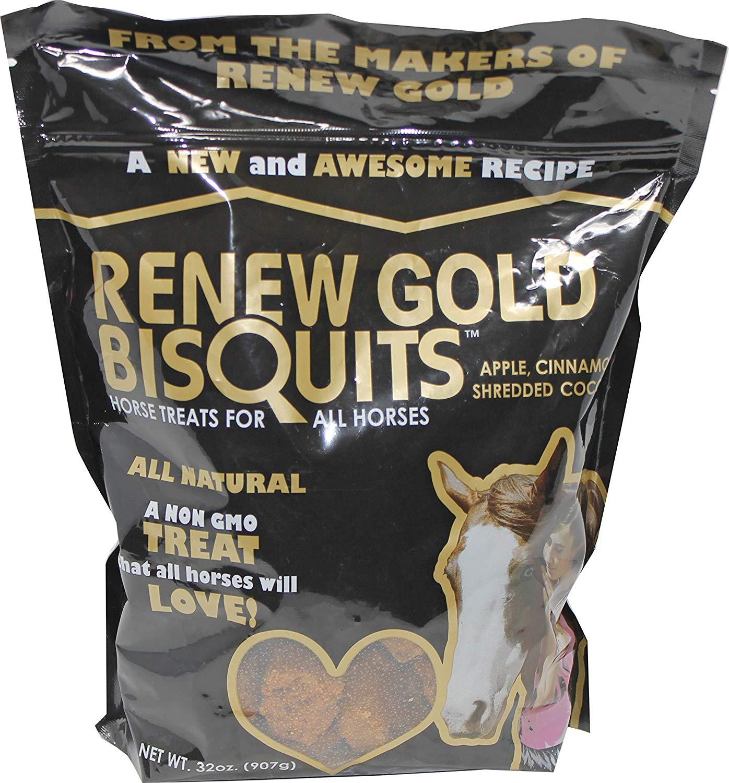Manna Pro Renew Gold BisQuits Horse Treats, 32-oz