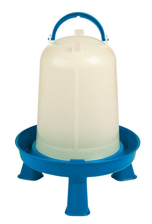 Miller Double-Tuf Waterer with Legs for Poultry, 1-gallon