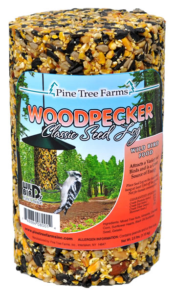 Pine Tree Farms Woodpecker Classic Seed Log Wild Bird Food, 36-oz
