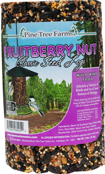 Pine Tree Farms Fruitberry Nut Classic Seed Log Wild Bird Food, 28-oz