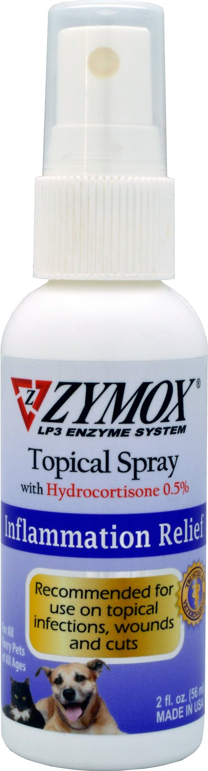 Zymox Enzymatic Topical Spray with Hydrocortisone 0.5% for Dogs & Cats, 2-oz bottle Image