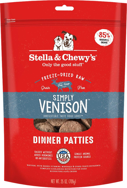 Stella & Chewy's Freeze-Dried Raw Simply Venison Dinner Patties Dog Food, 25-oz bag