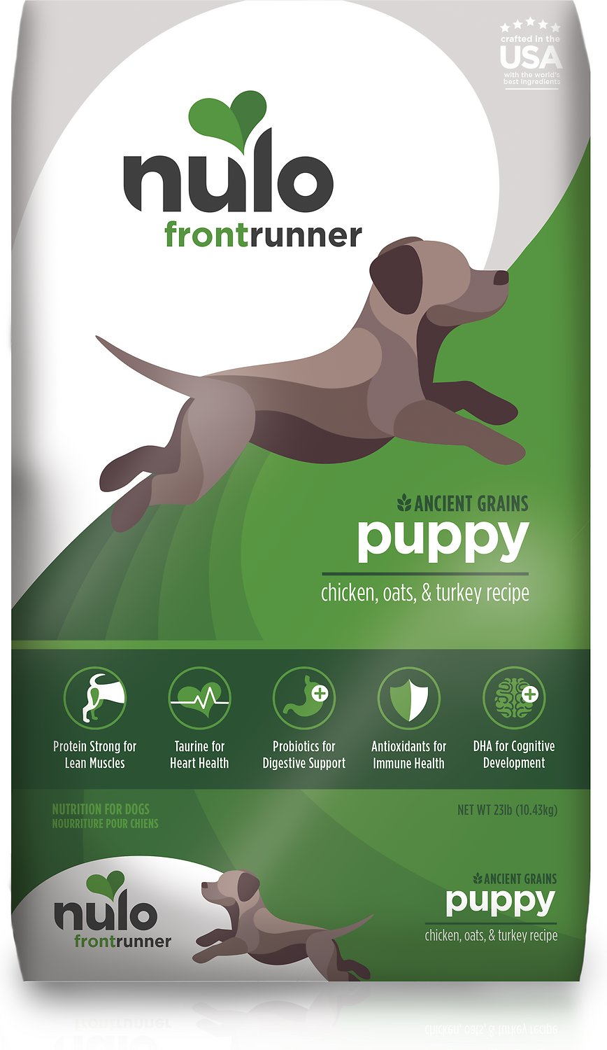 Nulo Frontrunner Ancient Grains Chicken, Oats, & Turkey Puppy Dry Dog Food, 23-lb