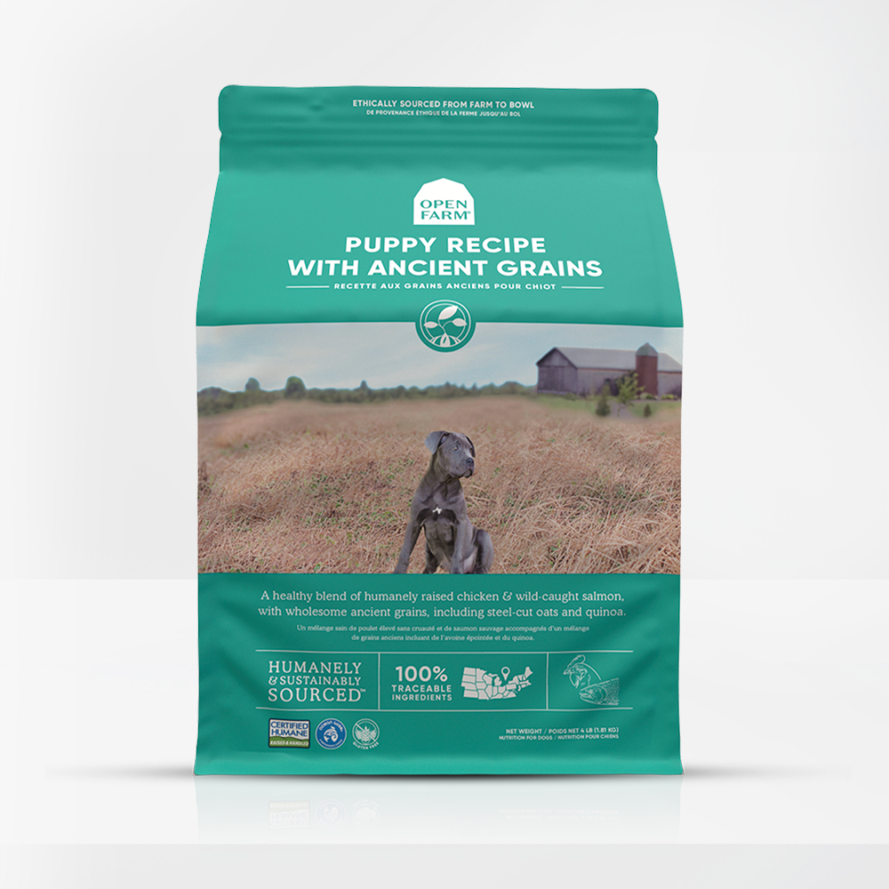 Open Farm Puppy Recipe with Ancient Grains Dry Dog Food, 4-lb