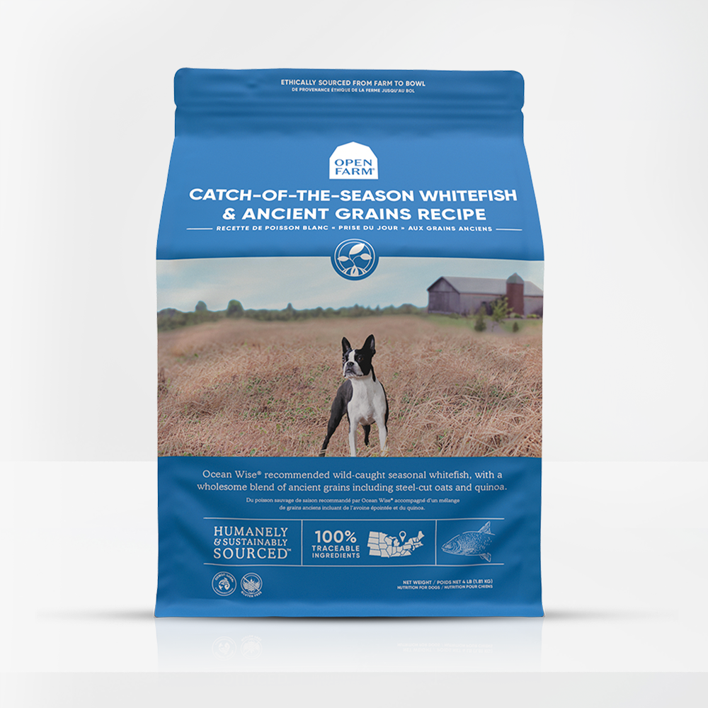 Open Farm Catch-of-the-Season Whitefish & Ancient Grains Recipe Dry Dog Food, 22-lb