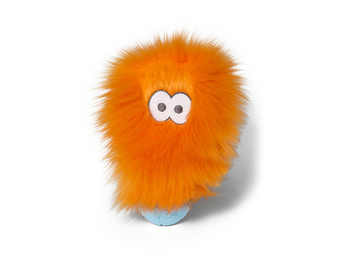 West Paw Rosebud Dog Toy, Orange Fur