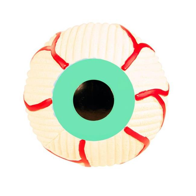 HuggleHounds Ruff-Tex Eyeball Dog Toy, Large
